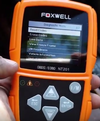 Review Foxwell NT201 OBDII Code Scanner Menu