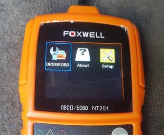 Review Foxwell NT201 OBDII Code Scanner Test 1