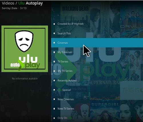 How To Install ULU Auto Play Kodi Addon