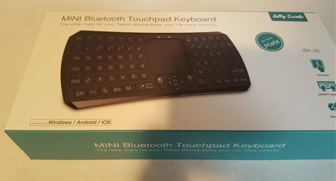 Review Mini Bluetooth Keyboard with Touchpad Remote Control for Android and Windows