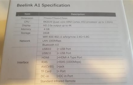 Review: Beelink A1 Android TV BOX 4GB RAM Rockchip 3368