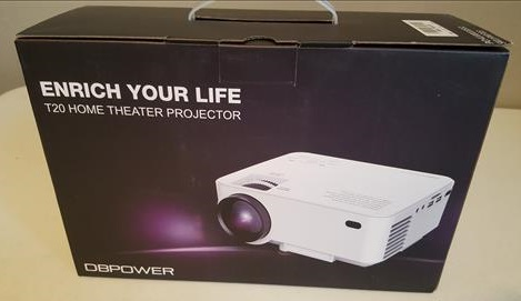 Review DBPOWER T20 LCD Mini Projector 1080P HD Home Theater