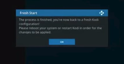 How To Clear Old Data From Kodi with Fresh Start Plugin Step 16