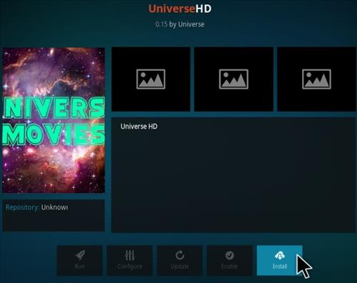 How to Install Universe Kodi Addon 2018 Step 18