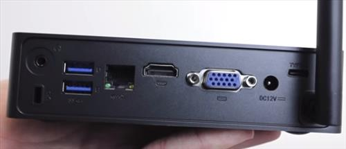 Review Azulle Byte3 Windows 10 Fanless Mini PC Back