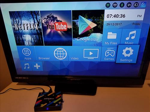 Review H96 MAX H1 Android TV Box RK3328 4GB RAM Launcher