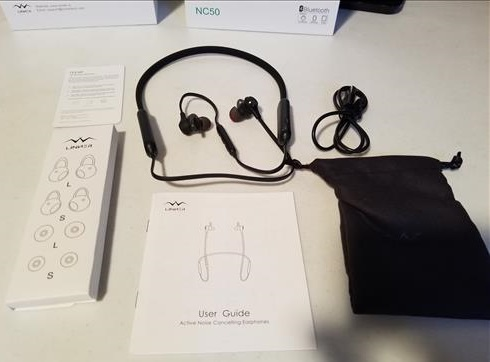 Review Linner NC50 Active Noise Cancelling Wireless Bluetooth Headphones ALL