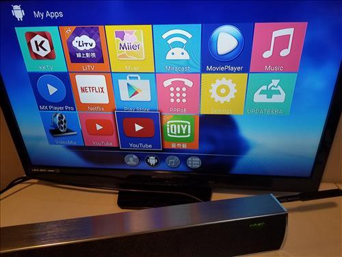 Review Mecool KS1 Smart Soundbar Android TV Box Combo APPS