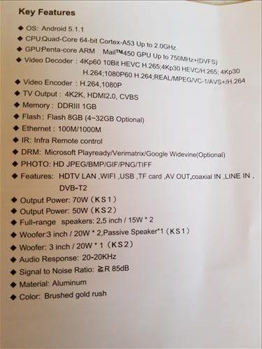 Review Mecool KS1 Smart Soundbar Android TV Box Combo Sepcs