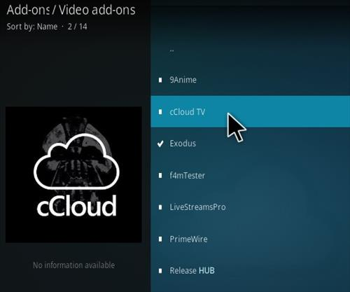 How to Install cCloud Live TV Kodi Addon new 2018 777 Step 18