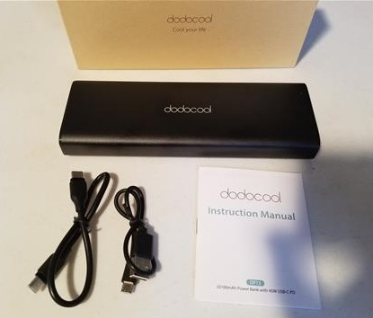 Review DodoCool 20100mAh 45W PD Type-C Portable Charging Bank ALL