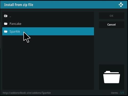How to Install Sparkle Kodi Addon Step 13