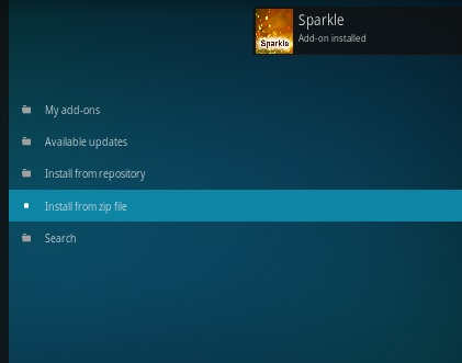 How to Install Sparkle Kodi Addon Step 15