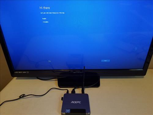 Review ACEPC T9 Mini PC Intel Z8350 Windows 10 Boot 2