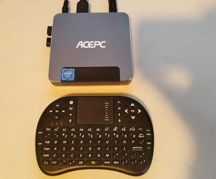 Review ACEPC T9 Mini PC Intel Z8350 Windows 10 Keyboard