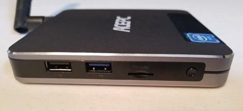 Review ACEPC T9 Mini PC Intel Z8350 Windows 10 Side