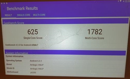 Review H96 P DLP Mini 100 Lumens 4K Projector Geek benhmark 4 Results