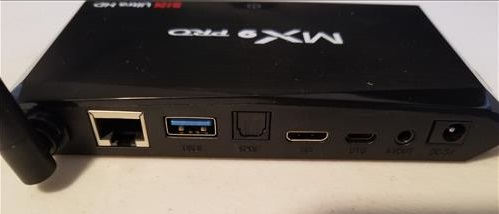 Review MX9 PRO Android TV Box Back