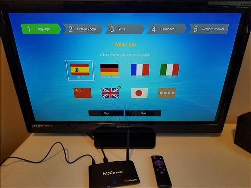 Review MX9 PRO Android TV Box Boot
