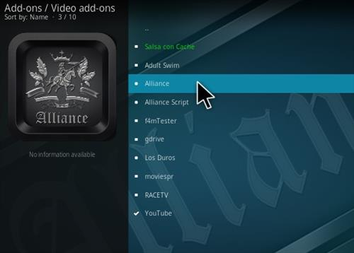 Steps To Install Alliance Kodi Addon Step 17