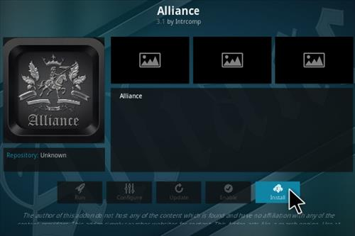 Steps To Install Alliance Kodi Addon Step 18