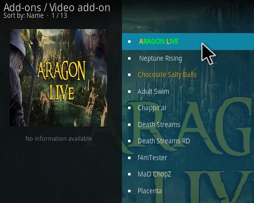 How To Install Aragon Live Kodi Addon Step 17