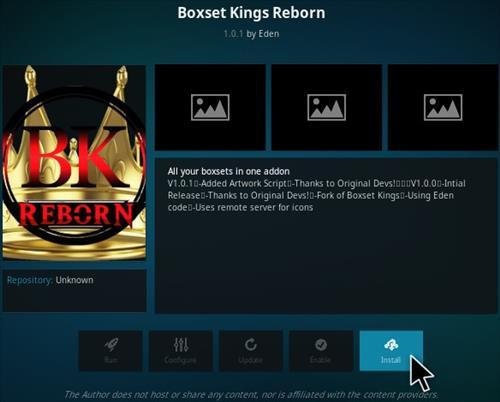 How To Install Boxset Kings Reborn Kodi Addon Step 18