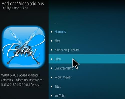 How To Install Eden Kodi Addon Step 17
