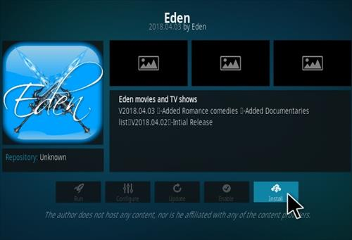How To Install Eden Kodi Addon Step 18