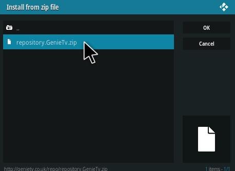How To Install GENIETV Kodi Addon Step 12