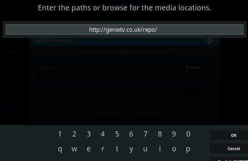 How To Install GENIETV Kodi Addon Step 5