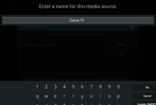 How To Install GENIETV Kodi Addon Step 6