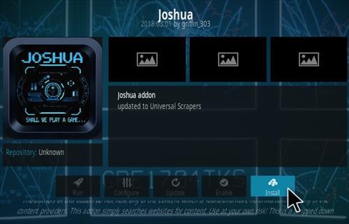 How To Install JOSHUA Kodi Addon Step 19