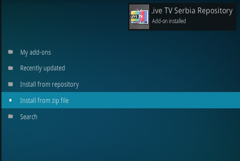 How To Install Live TV Serbia Kodi Addon Step 14