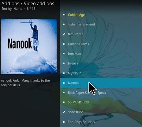 How To Install Nanook Kodi Addon Step 17