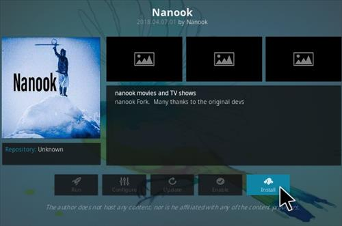 How To Install Nanook Kodi Addon Step 18