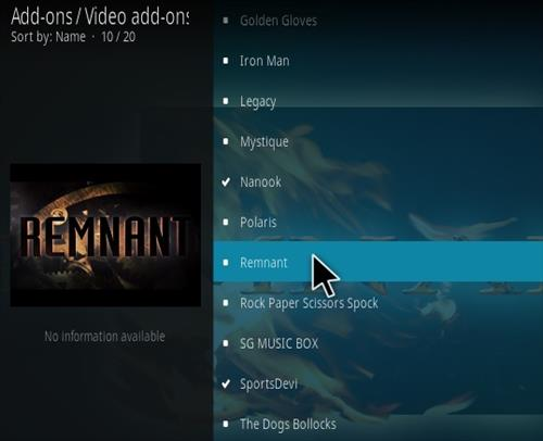 How To Install Remnant Kodi Addon Step 17