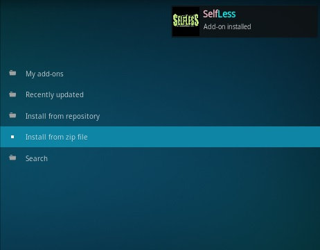 How To Install Selfless Kodi Addon Step 14