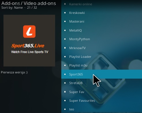 How To Install Sport 365 Kodi Addon Step 17