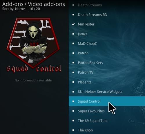 How To Install Squad Control Kodi Addon Step 16
