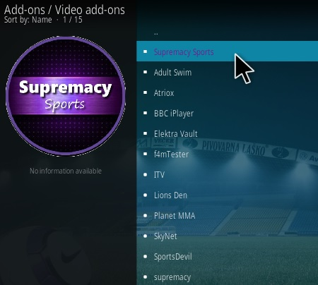How To Install Supremacy Sports Kodi Addon Step 18