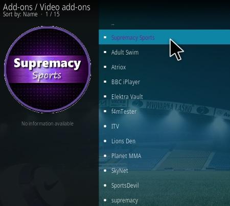 How To Install Supremacy Sports Kodi Addon Step 18