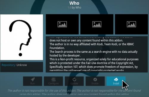How To Install WHO Kodi Addon Step 22