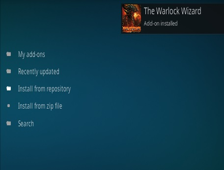 How To Install Warlock Kodi Build Step 13