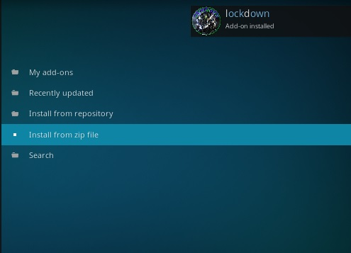 How to Install Lockdown Kodi Wizard Step 13
