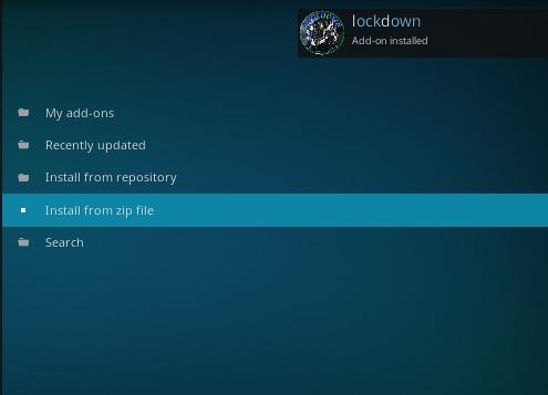 How to Install Lockdown Kodi Wizard Step 13