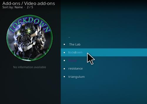 How to Install Lockdown Kodi Wizard Step 16