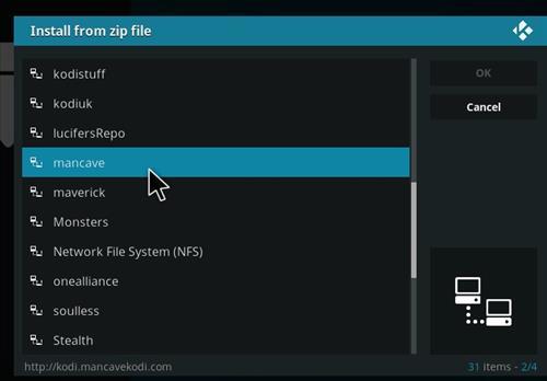 How to Install Mancave Tech Streams Kodi Add-on 11