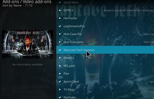 How to Install Mancave Tech Streams Kodi Add-on 18