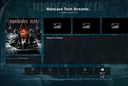 How to Install Mancave Tech Streams Kodi Add-on 19